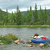 Northern Urals fishing in Russia